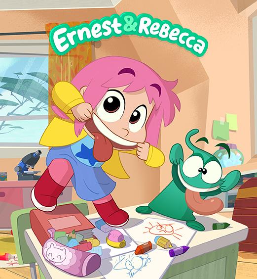 Ernest & rebecca sur le bureau